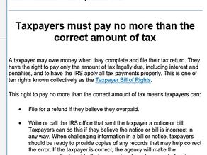 The IRS Said What?!?!?!