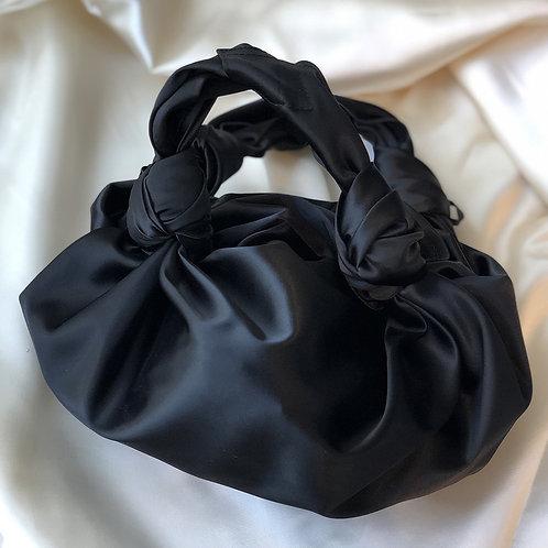 sac satin noir