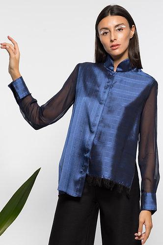 chemise asymétrique klein MANDARIN