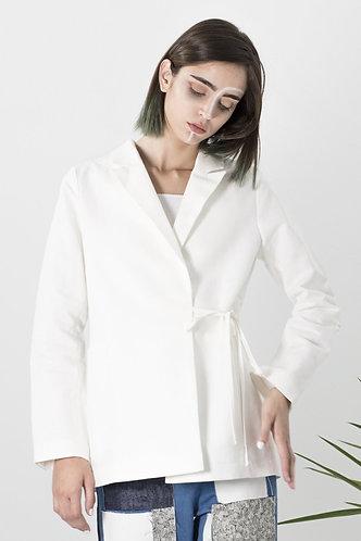 blazer croisé blanc