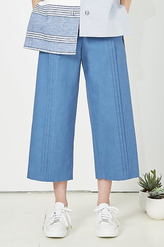 jean culotte PLEATED DENIM