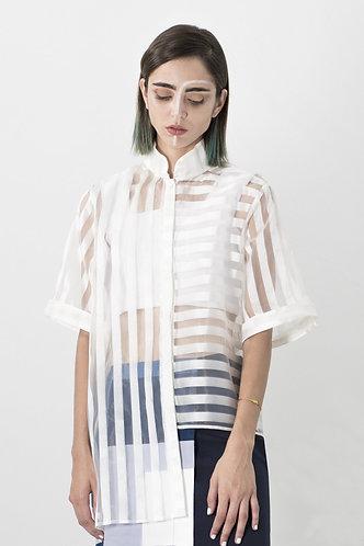 chemise manches courtes MANDARIN