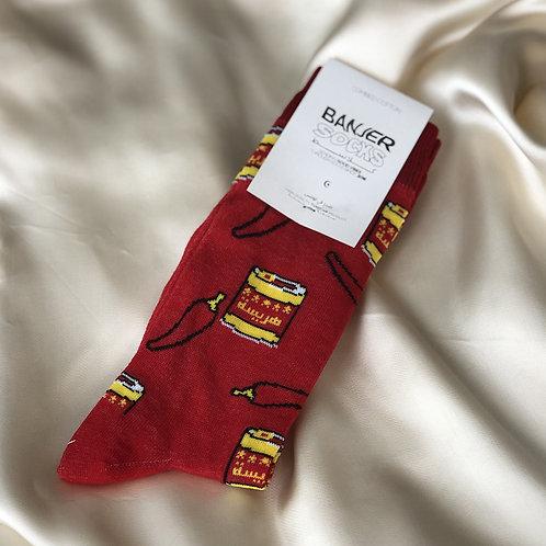 chaussettes rouges HARISSA