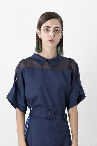 chemise bleue GEISHA