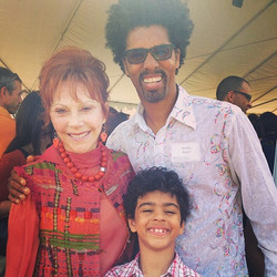With Glorya Kaufman and my son Sammy at the groundbreaking ceremony _usc #kaufmanschoolofdance #uscd