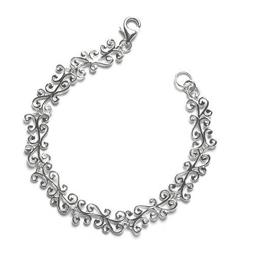Southern Gates Filigree Swirl Link Bracelet