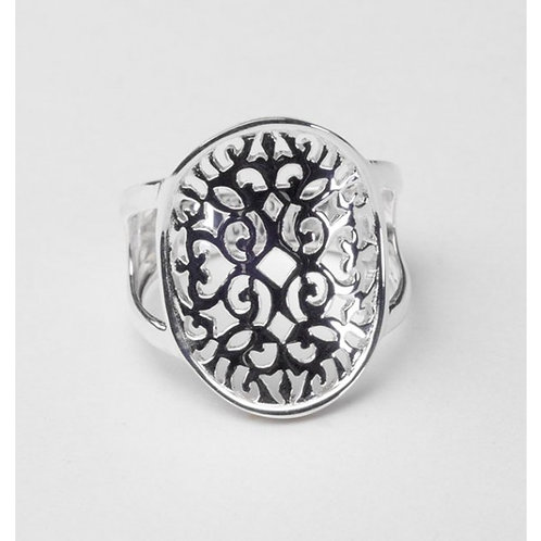 Southern Gates Oval Saddle Scroll Ring
