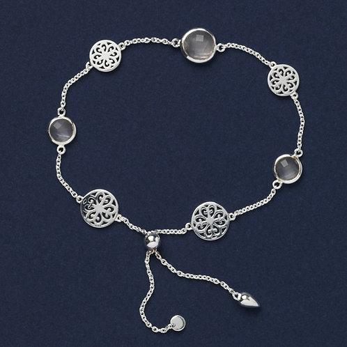 Southern Gates Rose Quartz & Filigree Bracelet