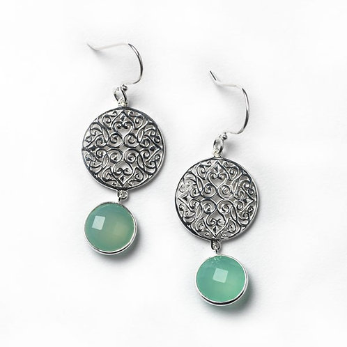 Southern Gates Sterling Silver & Chalcedony Earrings