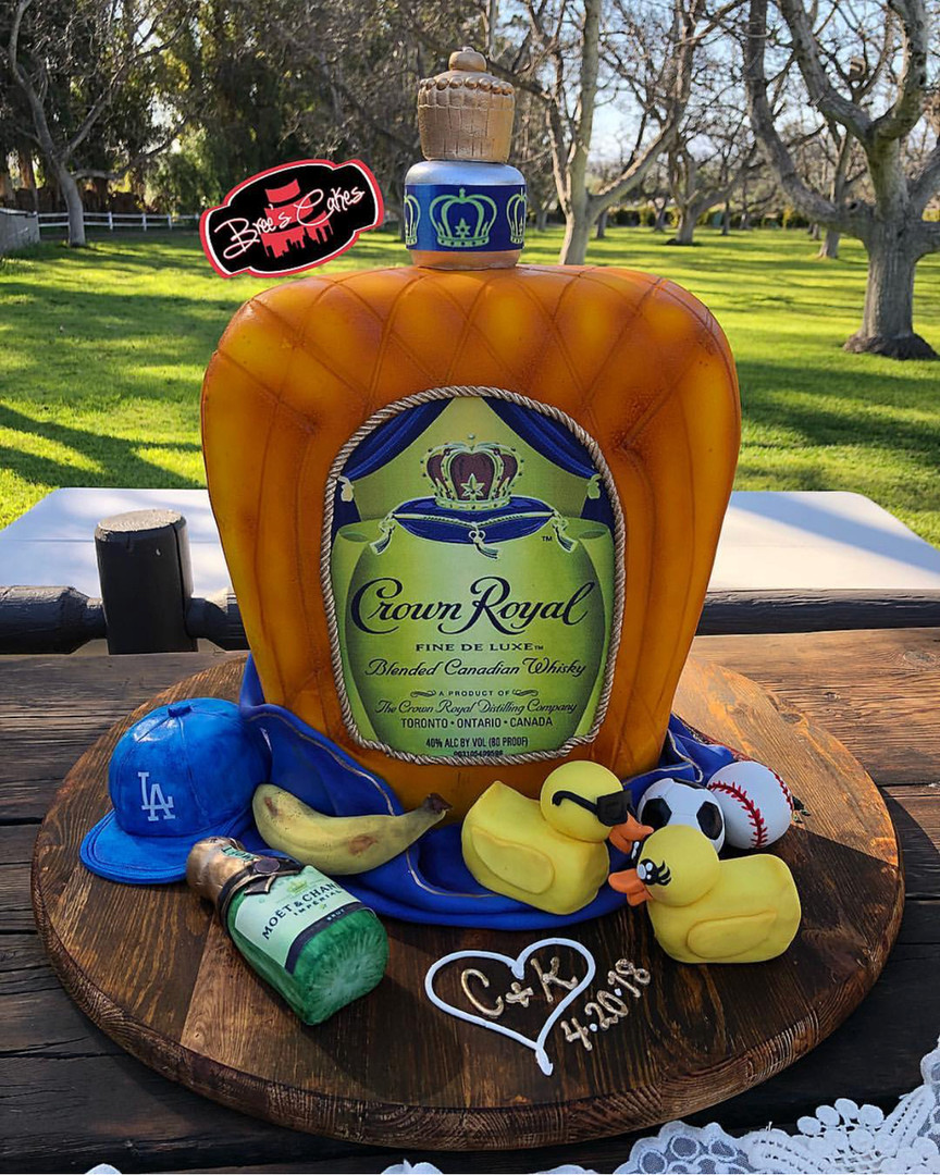 3D Crown Royal Wedding Cake