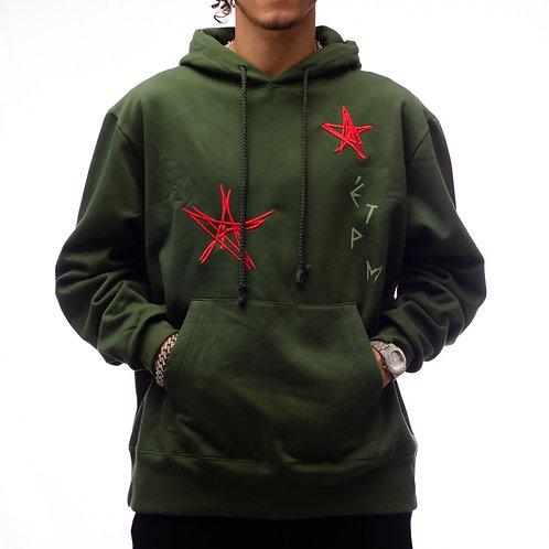 HOODIE STARS GREEN