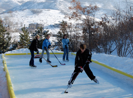 Back yard ice rink from TimberGyms