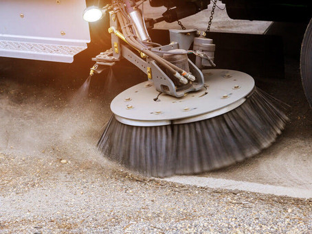 Regular parking lot sweeping in your commercial space