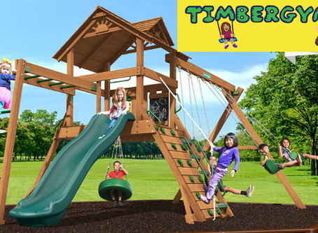 Summer Fun With a Swing Set From TimberGyms