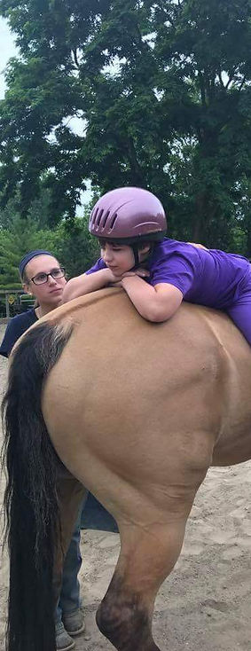 Brace getting her horse therapy