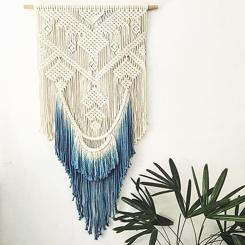 Macrame Wall Hanging with Dip Dyed ends
