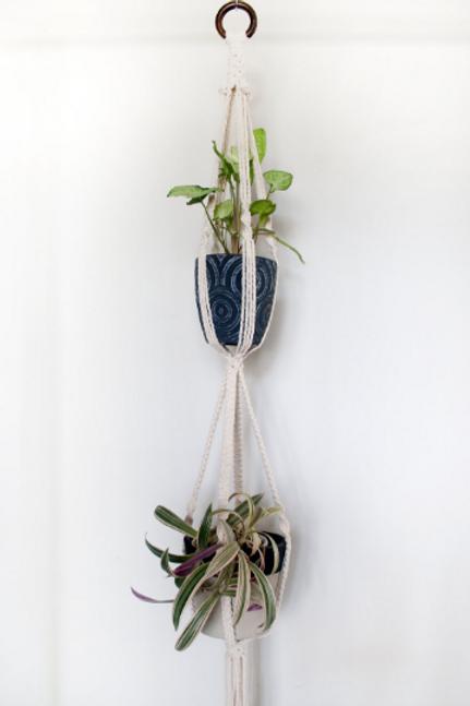 Double 'Dandy' Macrame Plant Hanger