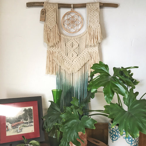 Macrame Wall Hanging   Dyed   Mandala