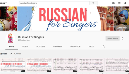 Russian Diction video guides