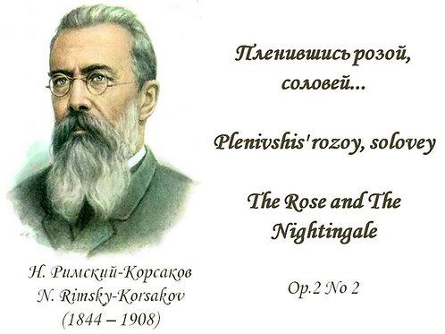 """N.Rimsky-Korsakov """"The Rose and The Nightingale"""" Op.2N2 Orig.key - Diction Score"""