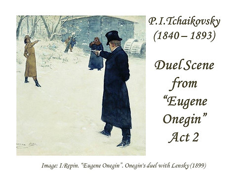 "Tchaikovsky ""Duel Scene"" - DICTION SCORE"