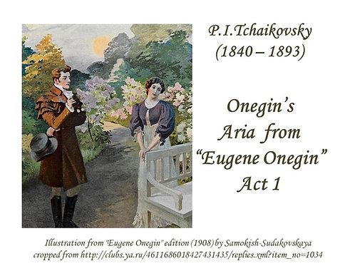 """Tchaikovsky """"Onegin's Aria"""" - FULL PACK"""