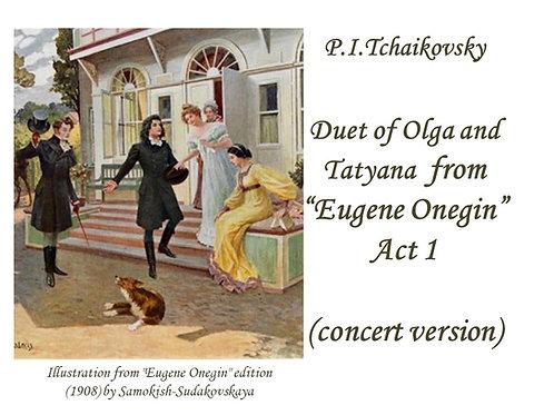 "Tchaikovsky ""Duet of Olga and Tatyana"" - DICTION SCORE"