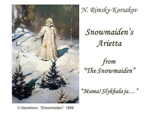 "Rimsky-Korsakov ""Snow Maiden's Arietta"" - DICTION SCORE"