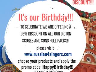 Birthday Discounts!!!