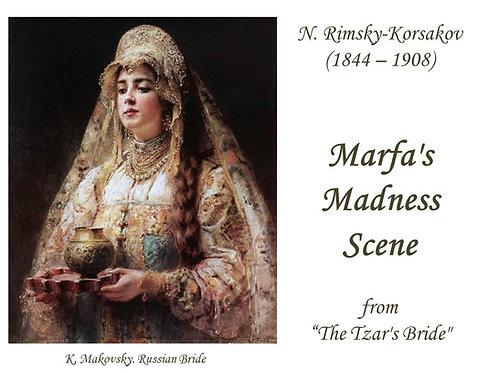 "Rimsky-Korsakov ""Marfa's  Madness  Scene"" - DICTION SCORE"