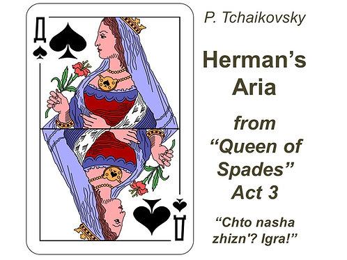 "Tchaikovsky Herman's Aria ""Chto nasha zhizn'?.."" - DICTION SCORE"