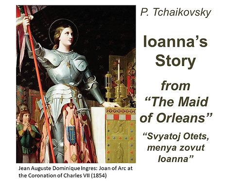 "Tchaikovsky ""Ioanna's Story"" - DICTION SCORE"