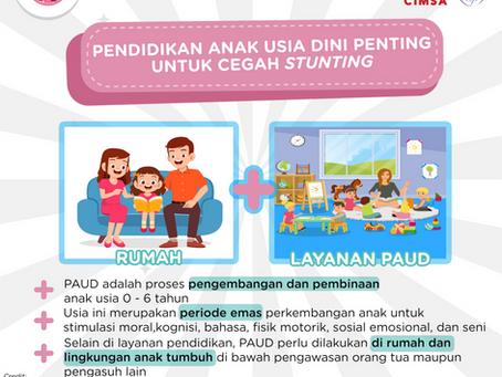 Pendidikan Anak Usia Dini Penting untuk Cegah Stunting