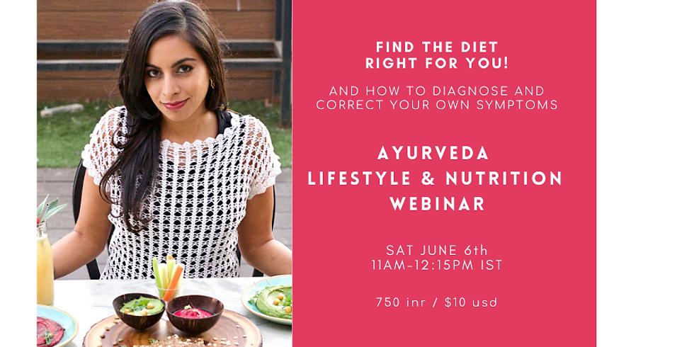 AyurvedicLifestyle and NutritionWebinar