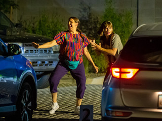 Popping up in parking lots, the Ladies bring social distance-friendly immersive performance to Phoen