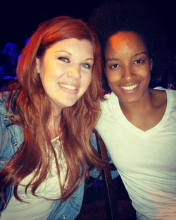 Comedian Ebony Toliver & I