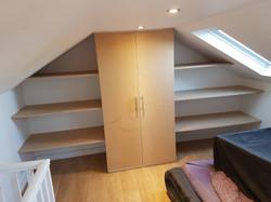 Attic Room - Wardrobe and Shelving