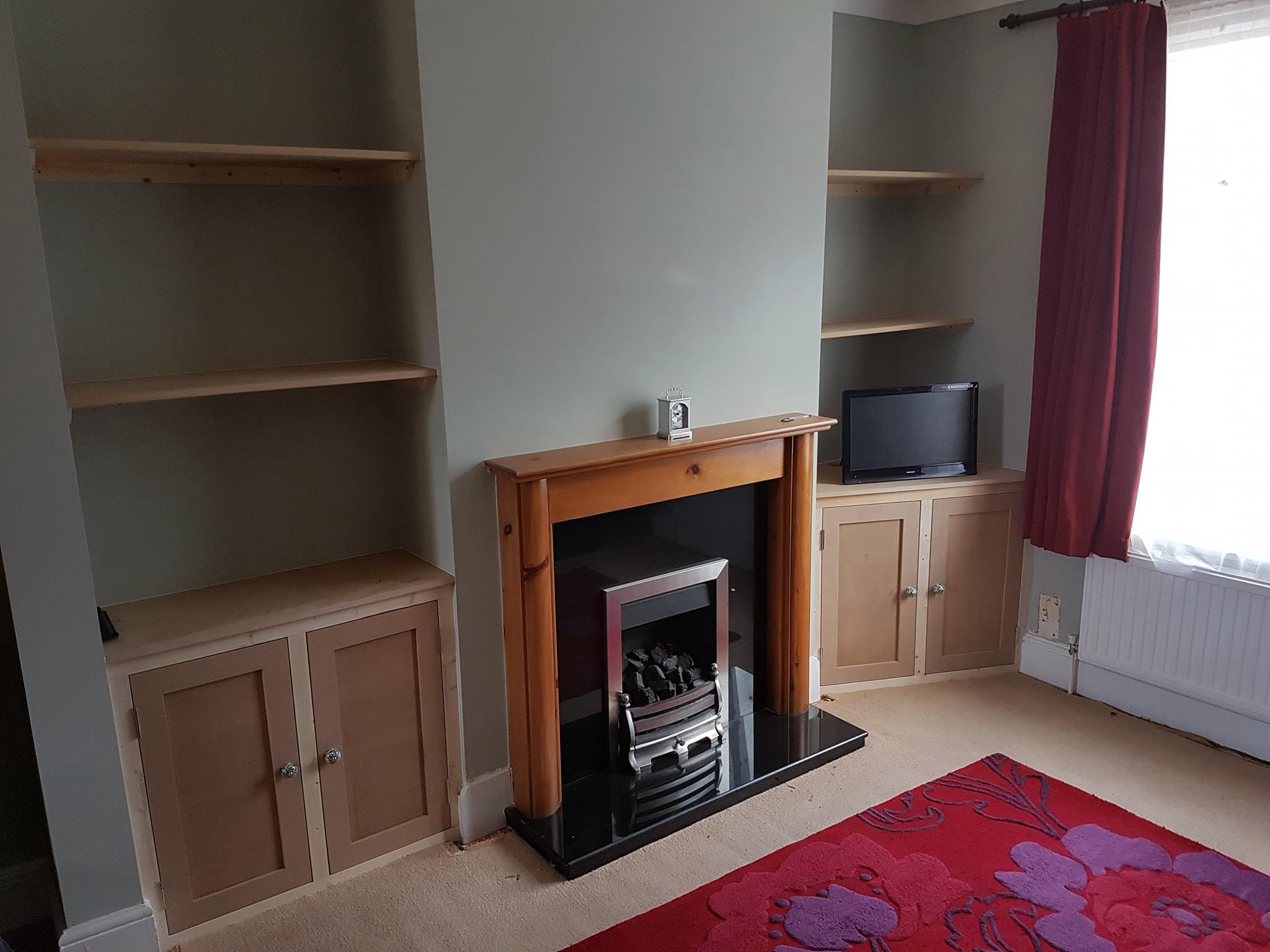 Chimney Breast Recess, Cupboards & S