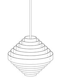 Round ceiling lamp Jules wabbes