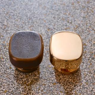 Oval Handles (Raw Bronze - Polished Bronze)