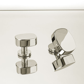 Oval Handles (Chrome-Plated Bronze)
