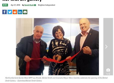 Bärbel makes it into the Brighton Independent Newspaper