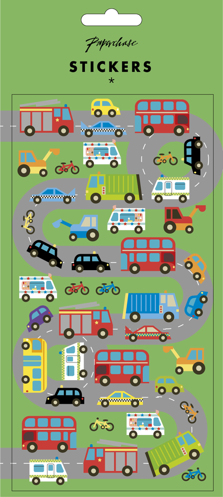 SS20 Paperchase kids vehicles stickers