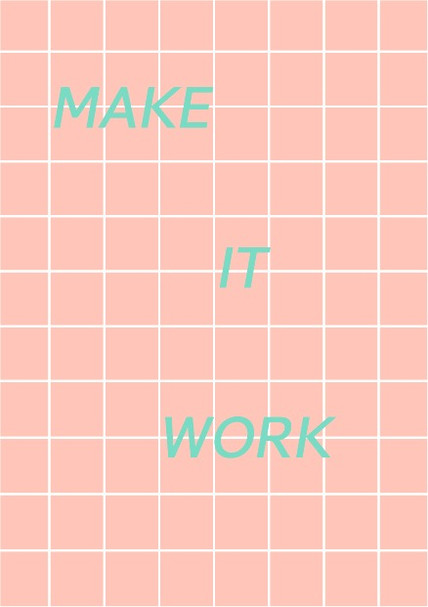 make it work postcard