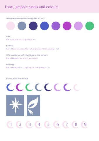 Connected Conscious branding guide - colour palette