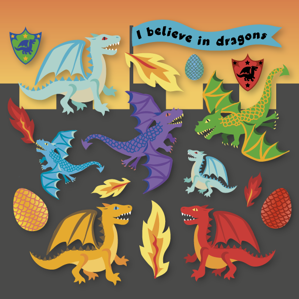 SS20 Paperchase kids dragon stickers