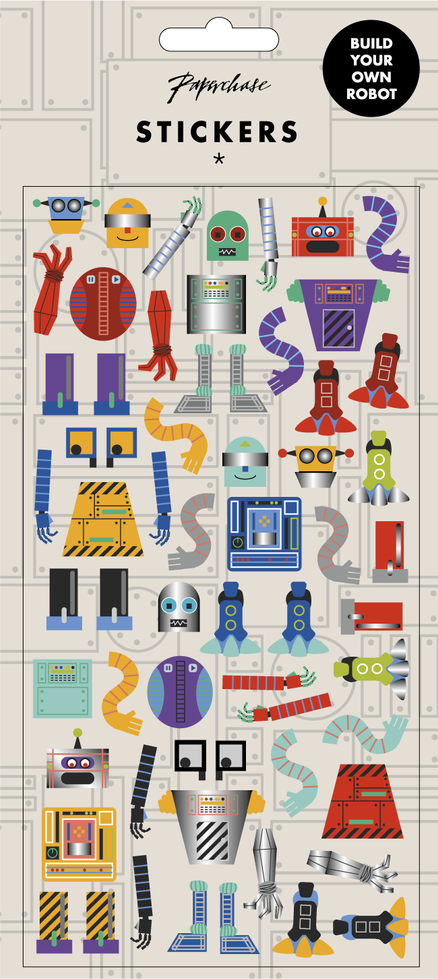 SS20 Paperchase kids robot stickers