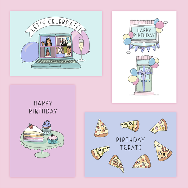Cards for celebrating during lockdown