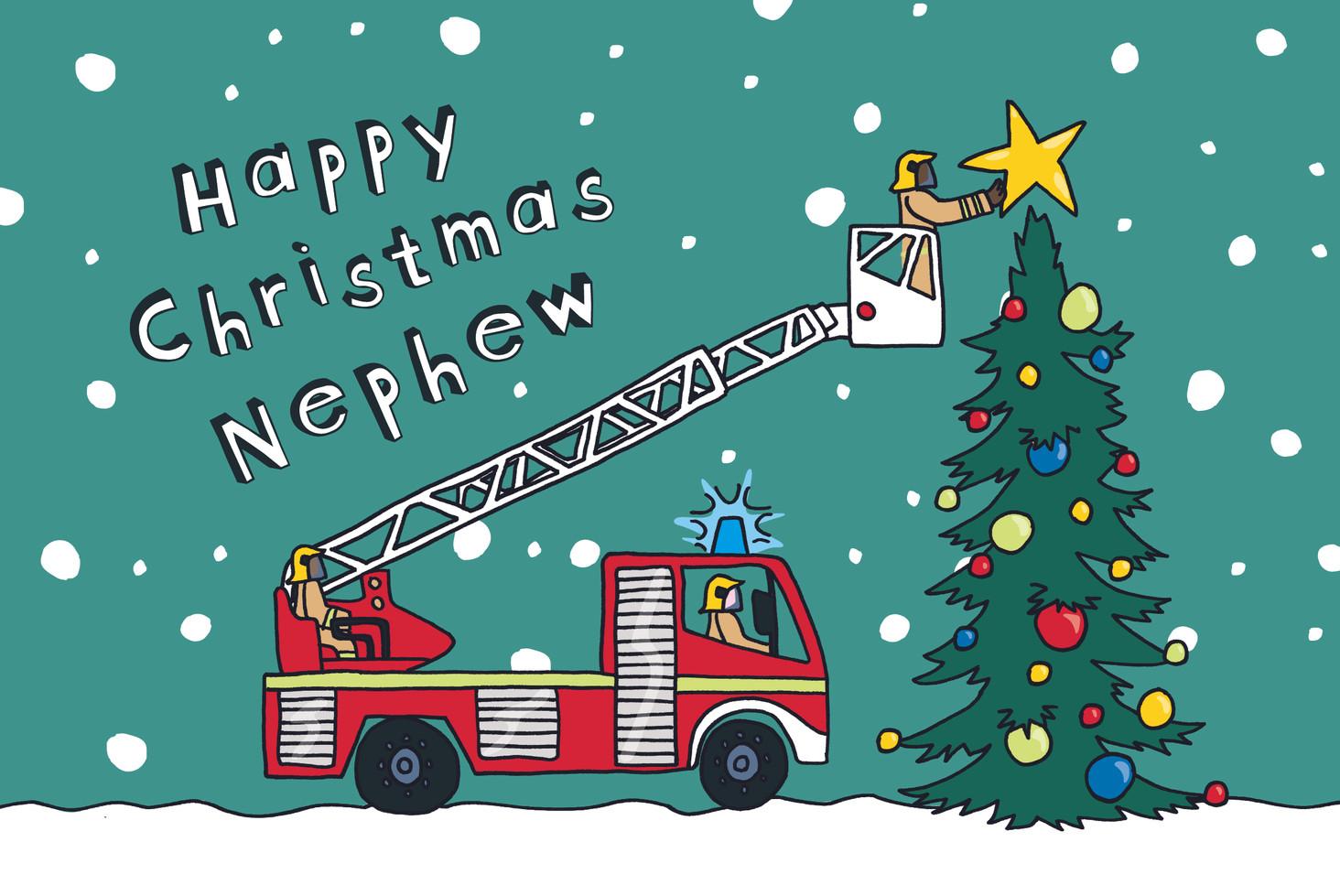 Christmas Fire Engine - Nephew