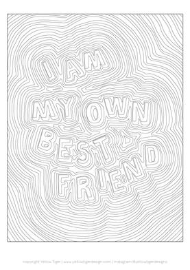 colouring sheet - best friend